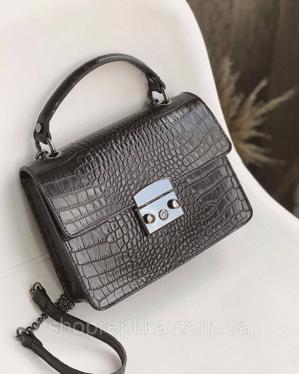 Женская Сумка кожаная черная сумка через плечо женская Женские сумки из кожи