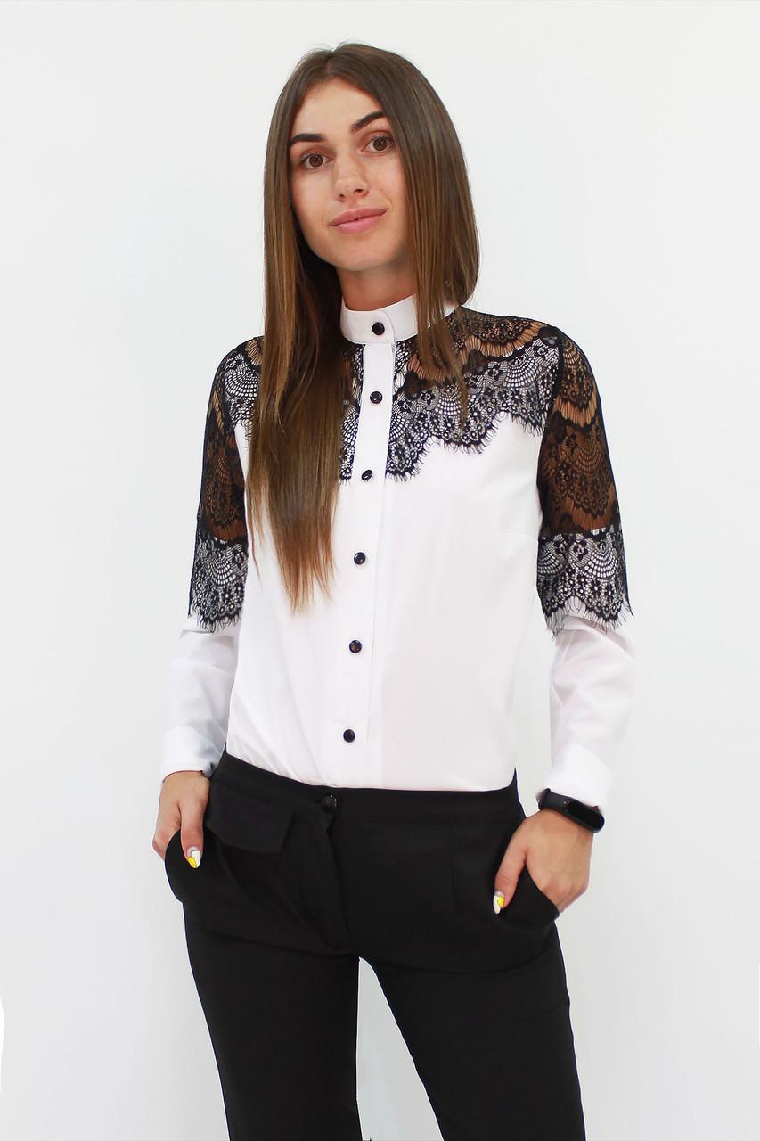 Романтическая блузка с кружевом Gilmor, белый