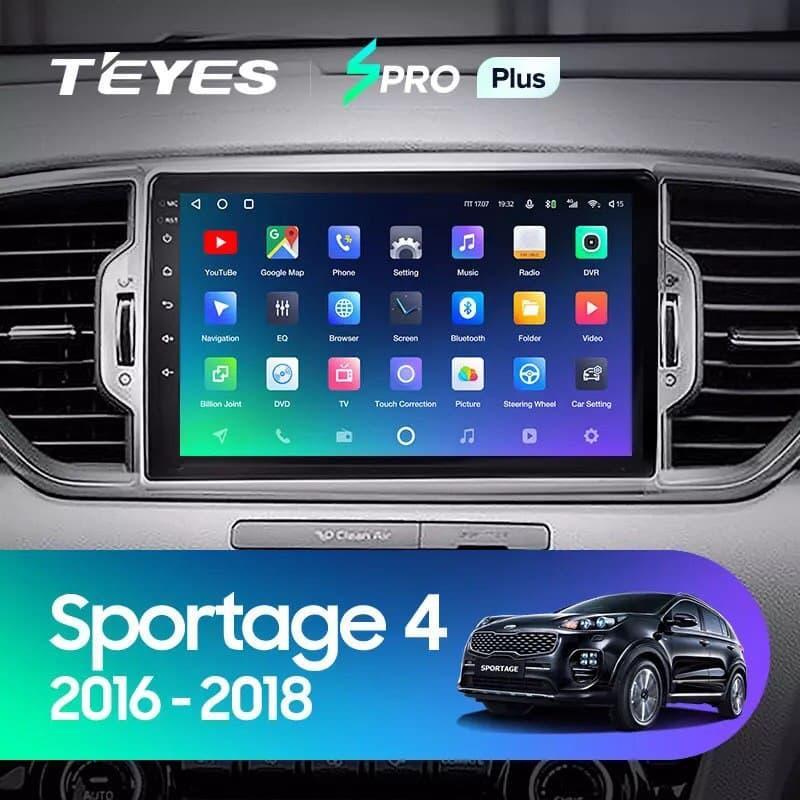 Штатная магнитола TEYES SPRO Plus  Kia Sportage 4 QL 2016 - 2018 Android 10