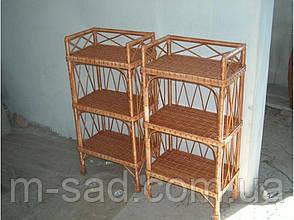 Плетеная этажерка на 3 полки, фото 2