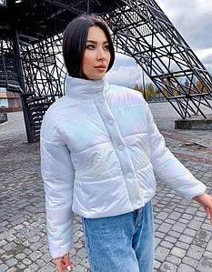 """Жіноча тепла куртка """"Плащівка Перли"""" в кольорах (ВЯ-36/1)"""