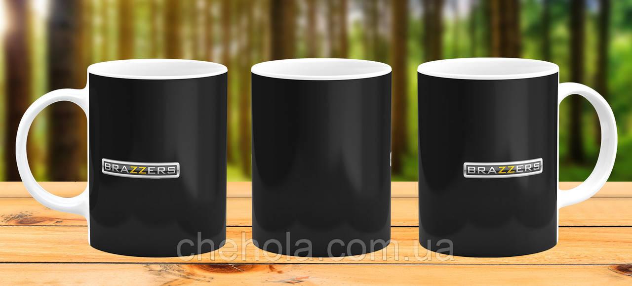 Оригинальная кружка с принтом brazzers Прикольная чашка подарок парню