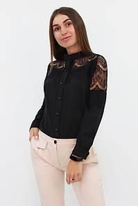 Романтична блузка з мереживом Gilmor, чорний