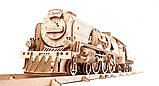 Механический 3D пазл «Локомотив c тендером V-Экспресс» деревянный конструктор UGears, фото 2