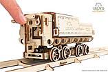 Механический 3D пазл «Локомотив c тендером V-Экспресс» деревянный конструктор UGears, фото 10
