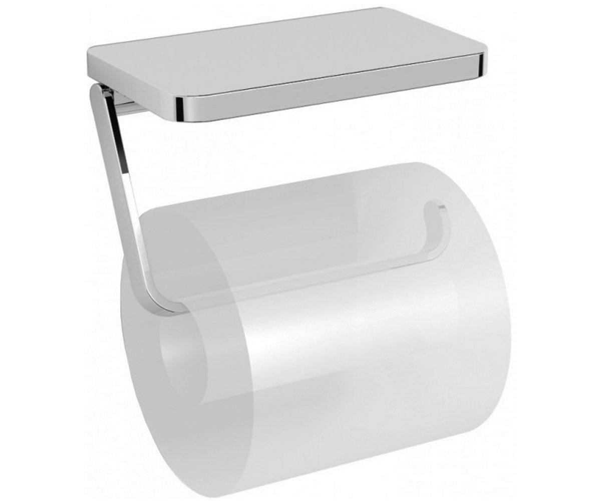 Держатель туалетной бумаги с полочкой Volle Teo 15-88-445 хром