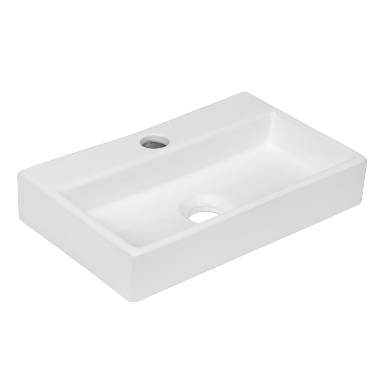 Раковина прямоугольный с отверстием под смеситель Volle 13-01-11 белый