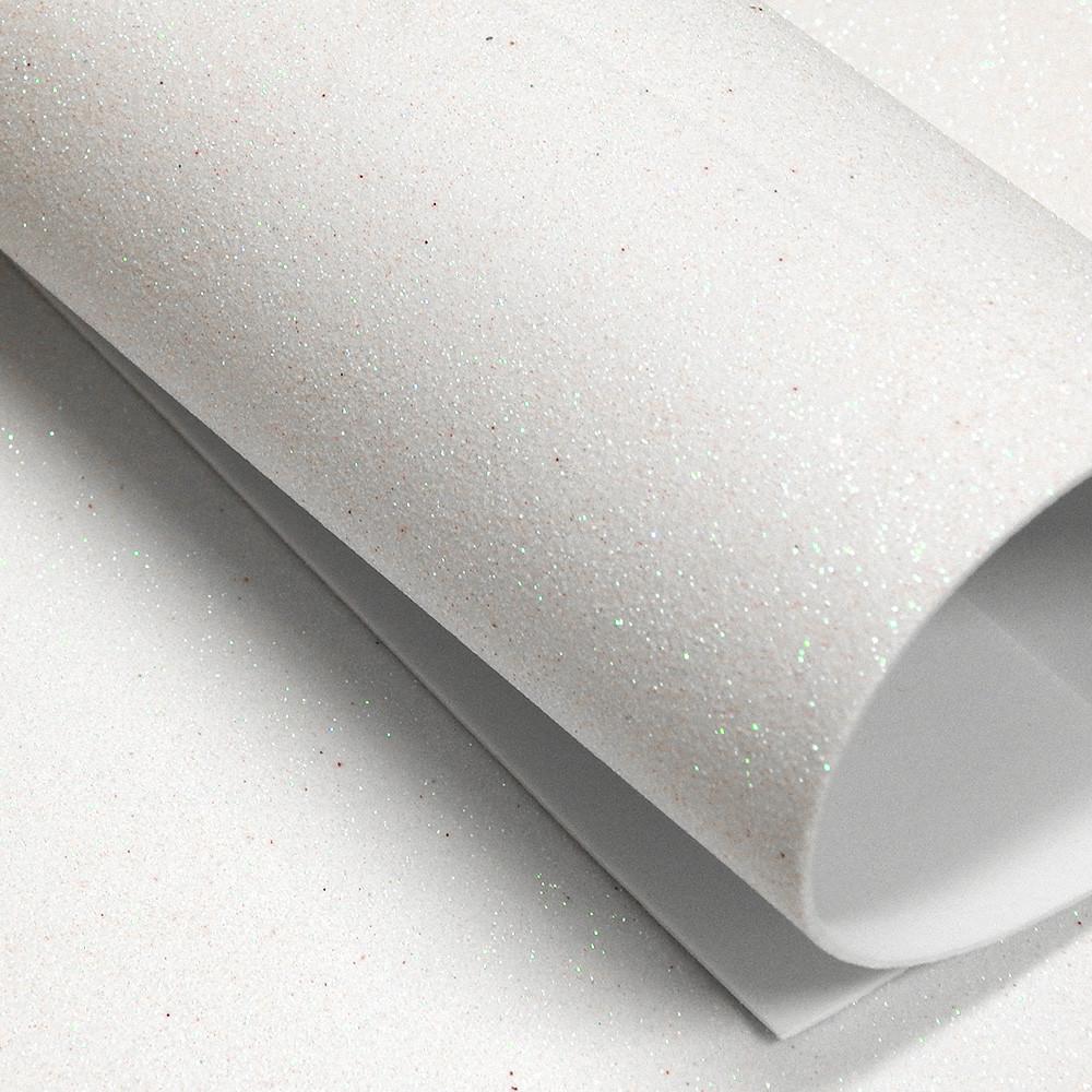 """Фоамиран с глиттером """"хамелеон"""", 20х30 см, белый"""