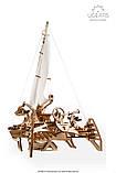 Механический 3D пазл «Тримаран Мерихобус» деревянный конструктор UGears, фото 4