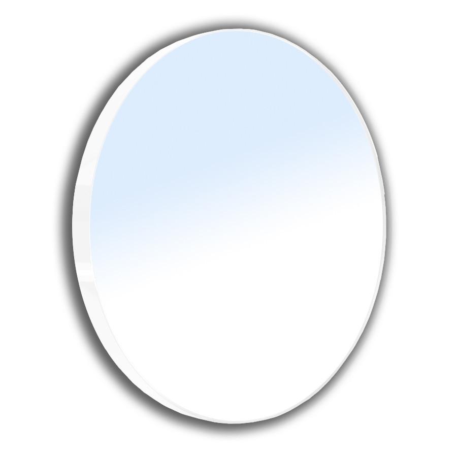 Зеркало круглое 60*60см на стальной крашенной раме, белого цвета Volle 16-06-916