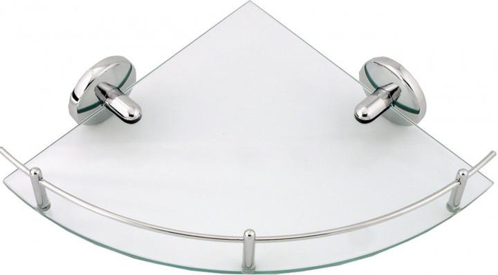 Полочка стеклянная угловая FERRO METALIA 1 с перилами 6158.0