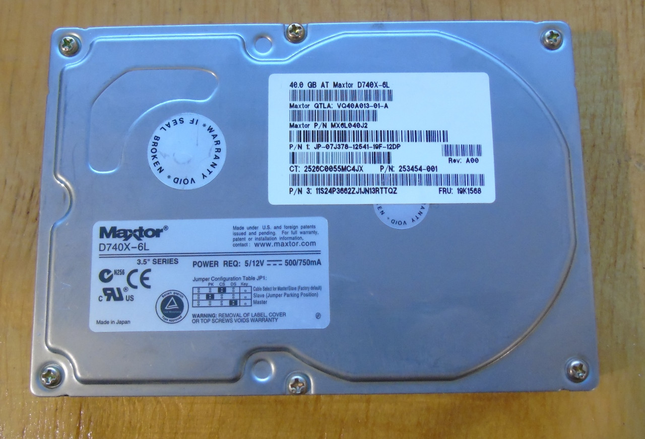 40Gb Винчестер Maxtor  D740X-6L IDE