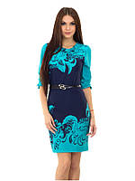 Стильное женское платье в расцветках, фото 1