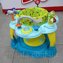 Развивающий Игровой центр 2 в 1 CARRELLO Ultimo Прыгунки+столик Azure Blue