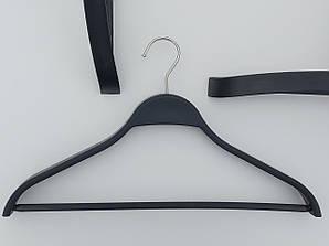 Плічка довжина 41 см пластмасові комісійні ZSH41 чорного кольору