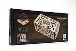 Механический 3D пазл «Кардхолдер для настольных игр» деревянный конструктор UGears, фото 4