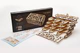 Механический 3D пазл «Кардхолдер для настольных игр» деревянный конструктор UGears, фото 3