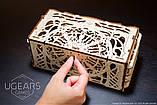 Механический 3D пазл «Кардхолдер для настольных игр» деревянный конструктор UGears, фото 2