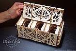 Механический 3D пазл «Кардхолдер для настольных игр» деревянный конструктор UGears, фото 5