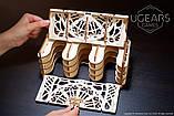 Механический 3D пазл «Кардхолдер для настольных игр» деревянный конструктор UGears, фото 6