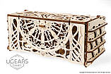 Механический 3D пазл «Кардхолдер для настольных игр» деревянный конструктор UGears, фото 10