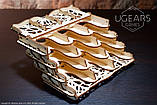 Механический 3D пазл «Кардхолдер для настольных игр» деревянный конструктор UGears, фото 7