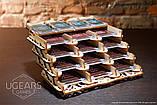 Механический 3D пазл «Кардхолдер для настольных игр» деревянный конструктор UGears, фото 8