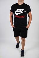 Футболка Nike черная + шорты черные мужские летние