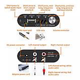 Підсилювач звуку VHM337 TPA3116 50W X2 Bluetooth 5.0 AUX USB плеєр MINI Бездротовий аудіо 2.0 Стерео 12-24в, фото 2