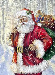 """Набор алмазной вышивки (мозаики) """"Дед Мороз с подарками"""""""