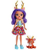 "Лялька з вихованцем ""Enchantimals"" MATTEL FXM75, Danessa Deer dvh87, фото 1"