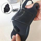 Многоразовая маска Pitta MASK с клапаном выдоха Черная (эластичный полиуретан), фото 7