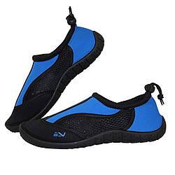 Обувь для пляжа и кораллов аквашузы SportVida Size 37 Black/Blue SKL41-277860