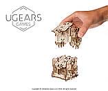 Механический 3D пазл «Модульний Дайс Тауэр» деревянный конструктор UGears, фото 3