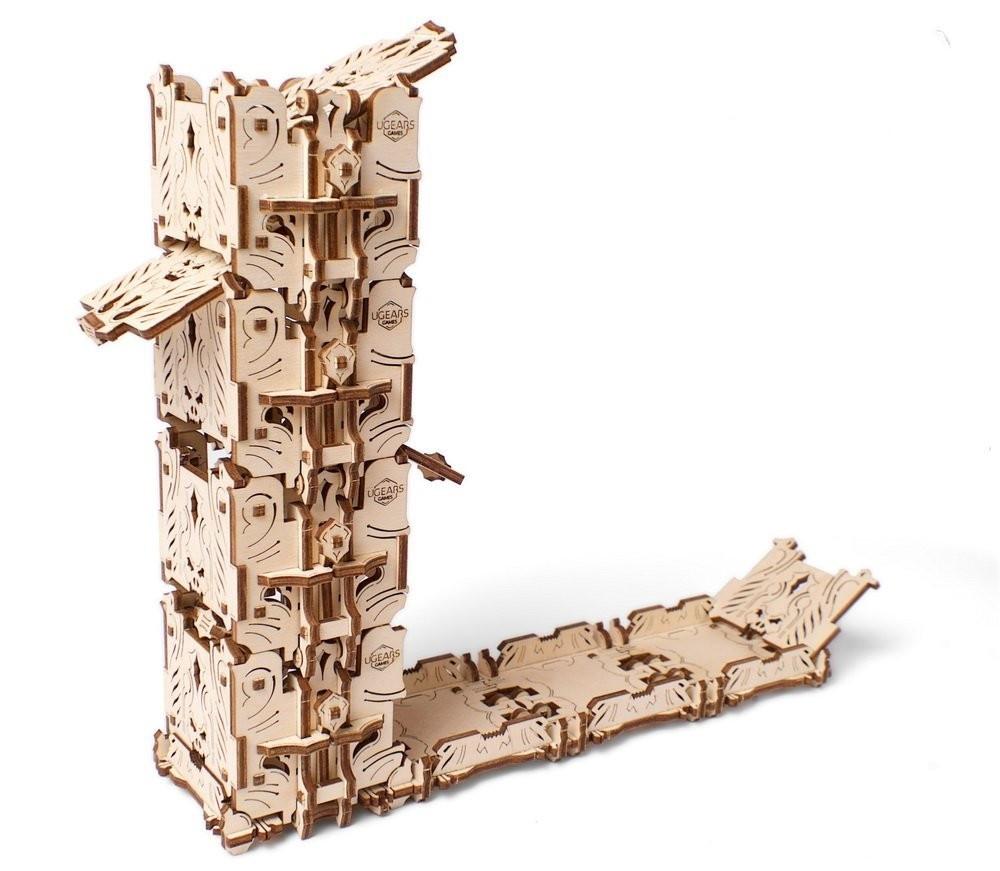 Механический 3D пазл «Модульний Дайс Тауэр» деревянный конструктор UGears