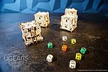 Механический 3D пазл «Модульний Дайс Тауэр» деревянный конструктор UGears, фото 5