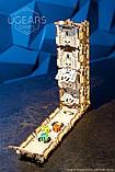 Механический 3D пазл «Модульний Дайс Тауэр» деревянный конструктор UGears, фото 10