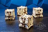 Механический 3D пазл «Модульний Дайс Тауэр» деревянный конструктор UGears, фото 8
