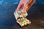 Механический 3D пазл «Модульний Дайс Тауэр» деревянный конструктор UGears, фото 4