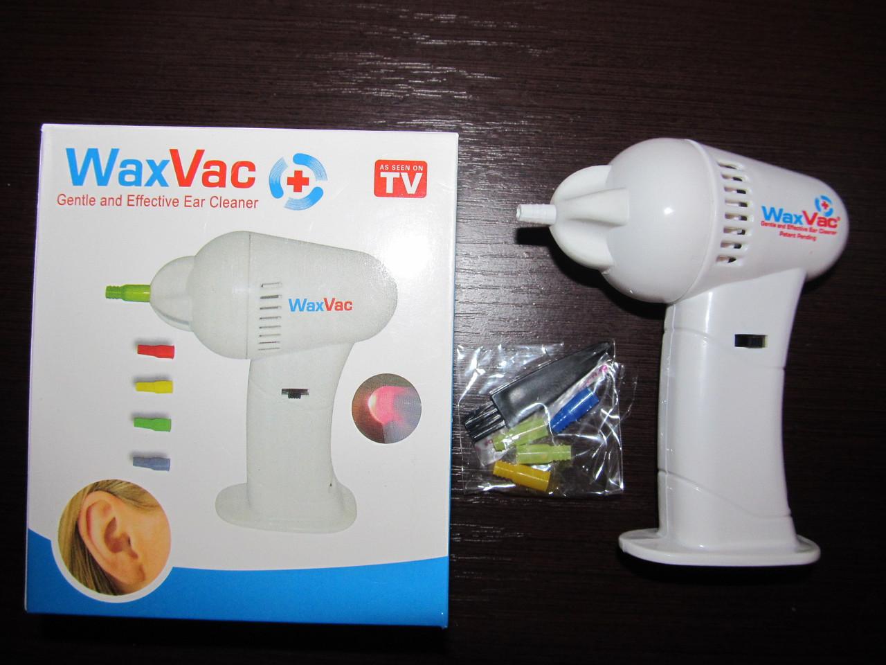 Прилад для чищення вух ( чистильник, ухочистка ) Wax Vac -електричний