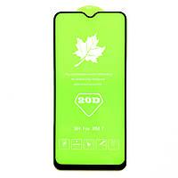 Защитное стекло 20D для Xiaomi Redmi 7 черное с полной проклейкой (на сяоми редми 7, ксиоми редми 7 ксяоми)