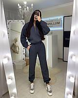 Костюм женский Каприз теплый на флисе кофта на молнии и штаны с карманами Df3144