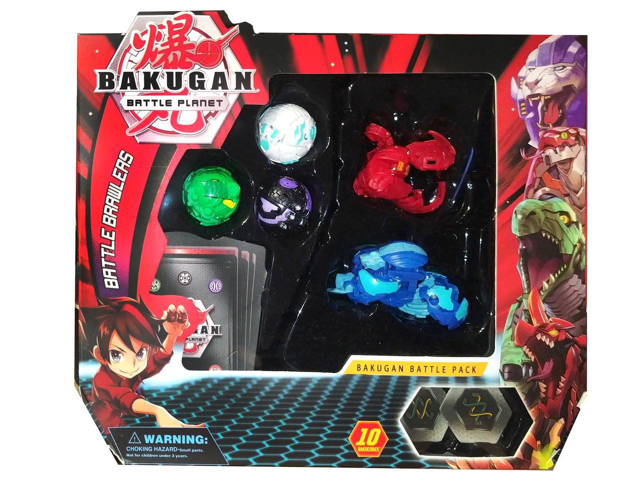 Ігровий набір Bakugan Battle planet - Фігурки трансформери Бакуган 5шт.