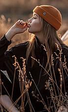 Жіноча Шапка -докерка біні з трикотажу-гумки, фото 2