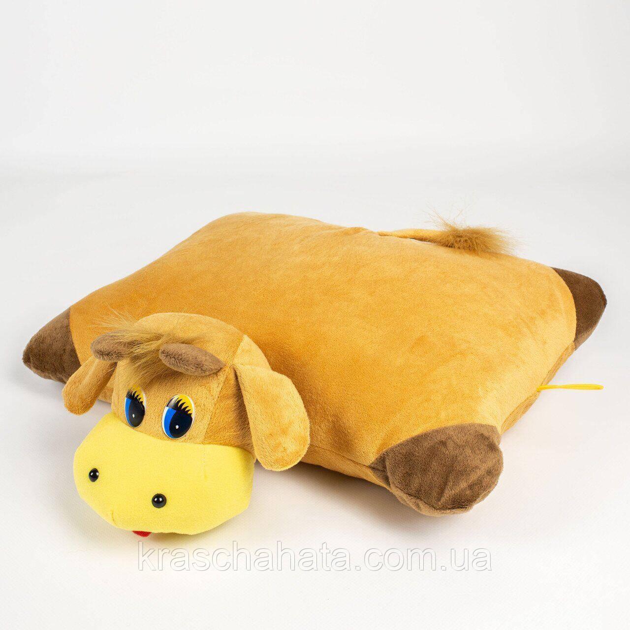 Коровка, мягкая игрушка-подушка, 37х37х16 см