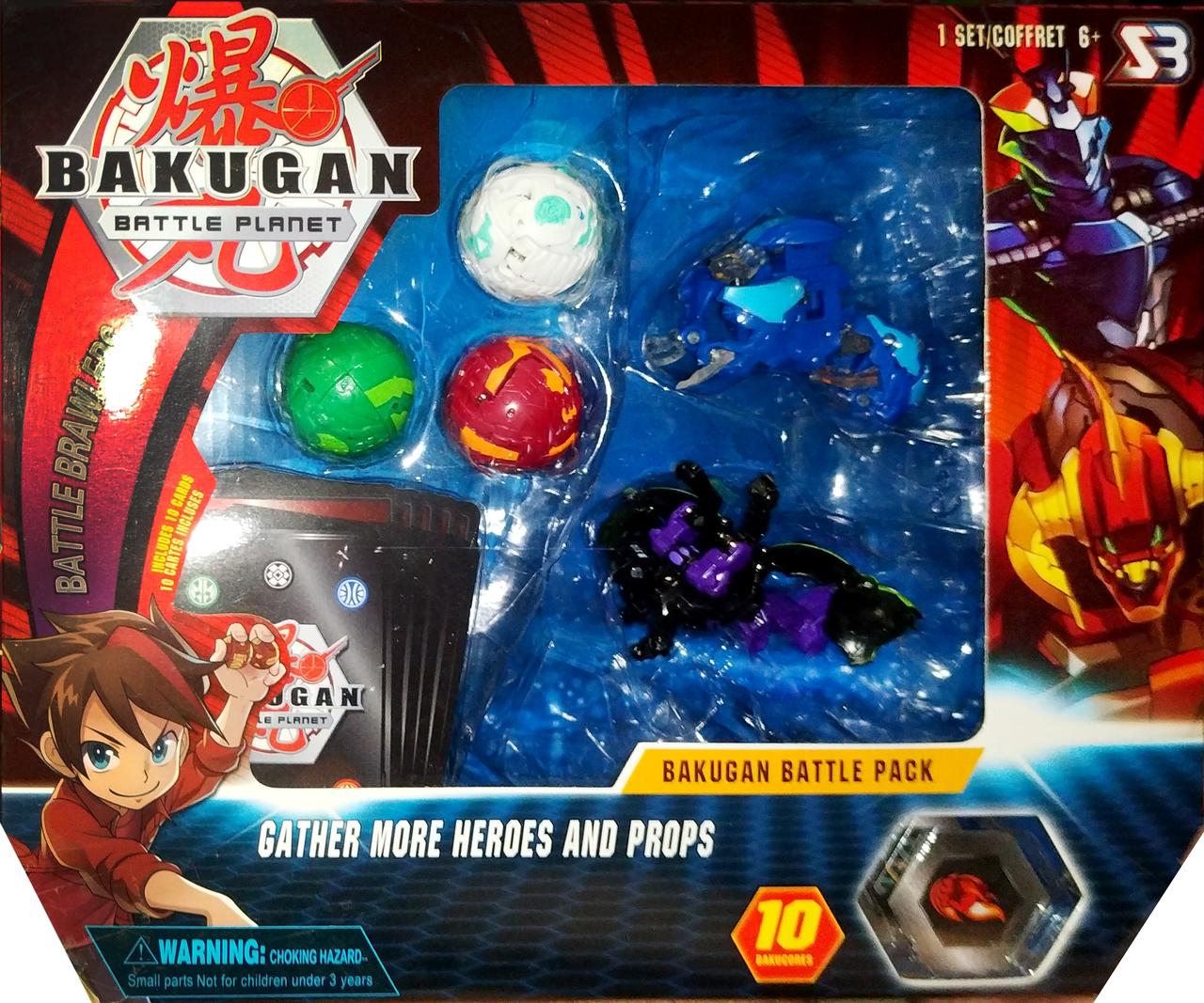 Игровой набор Bakugan Battle planet Фигурки трансформеры Бакуган 5шт Вид 2