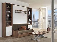 Шкаф-кровать с диваном, полками и шкафчиками, фото 1