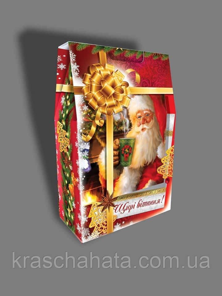 Новогодняя коробка, Щирі вітання!, 2000 гр, Картонная упаковка для конфет