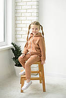 Стильный и теплый спортивный костюм ФЛИС для девочки р. 86, 92, 98, 104
