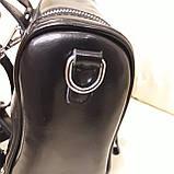 Женский черный рюкзак сумка из натуральной кожи Black, фото 2